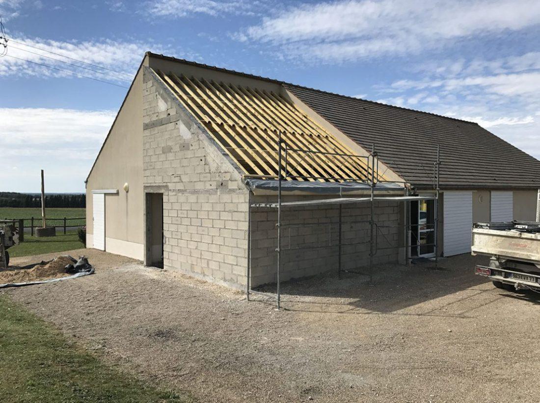 Devis Extension Maison  Saint-Herblain → Agrandissement Bois, Acier, Parpaing